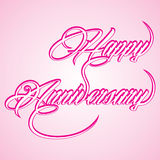 Creative calligraphy of text happy anniversary Stock Images