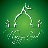 Creative calligraphy of text happy eid Royalty Free Stock Photo