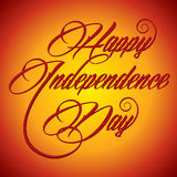 Creative calligraphy of text Happy Independence Day Stock Photos