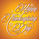 Creative calligraphy of text Happy Thanksgiving Da Stock Images