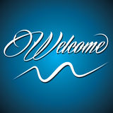 Creative calligraphy of text welcome Stock Images