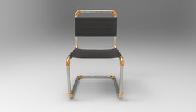 Creative cantilever chair design made of piping parts 3d illustr Stock Photography