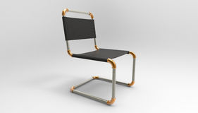 Creative cantilever chair design made of piping parts 3d  Stock Photography