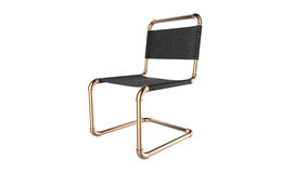 Creative cantilever chair design made of piping parts isolated  Stock Photo