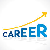 Creative career word growth graph design Royalty Free Stock Photo