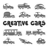Creative cars design elements Stock Image