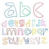Creative cartoon cheery font Stock Photography