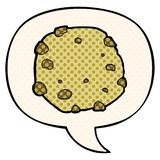 A creative cartoon cookie and speech bubble in comic book style. An original creative cartoon cookie and speech bubble in comic book style vector illustration