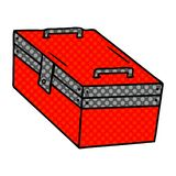 A creative cartoon doodle of a metal tool box. An original creative cartoon doodle of a metal tool box royalty free illustration