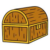 A creative cartoon doodle of a treasure chest. An original creative cartoon doodle of a treasure chest stock illustration