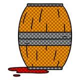 A creative cartoon doodle of a wine barrel. An original creative cartoon doodle of a wine barrel stock illustration