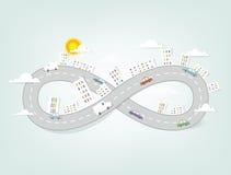 Creative cartoon urban landscape Stock Image