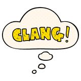 A creative cartoon word clang and thought bubble in comic book style. An original creative cartoon word clang and thought bubble in comic book style stock illustration