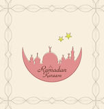 Creative Celebration Card with Architecture for Ramadan Kareem Royalty Free Stock Images