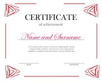 Creative certificate, diploma. Frame for diploma, certificate. royalty free illustration