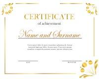 Creative certificate, diploma. Frame for diploma, certificate. Certificate template with elegant border frame. Creative certificate, diploma. Frame for diploma royalty free illustration