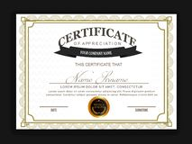 Certificate template. Creative certificate template with clean and modern pattern,Vector illustration vector illustration