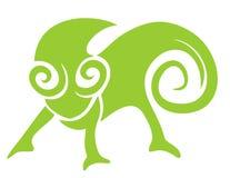 Creative chameleon style icon Royalty Free Stock Image