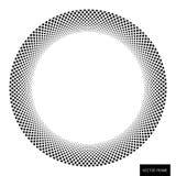 Creative checkered ring Emblem Royalty Free Stock Photos