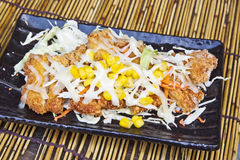 Creative chicken steak cuisine Stock Photo