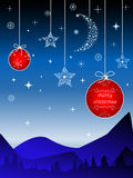 Creative christmas background - mountain landscape Royalty Free Stock Photos
