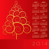 2014 Creative Christmas Calendar. For Print or Web royalty free illustration