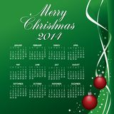 2014 Creative Christmas Calendar. For Print or Web stock illustration