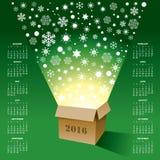 2016 Creative Christmas Calendar Royalty Free Stock Photos
