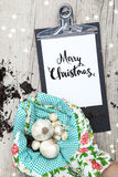 Creative Christmas Card for a garden business Royalty Free Stock Image