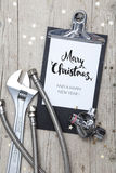 Creative Christmas Card for an installation business Stock Image