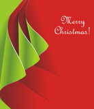 Creative christmas card. Creative Christmas tree formed from curled corner paper. Vector Illustration Stock Photos