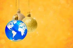 Creative Christmas decoration balls Stock Image