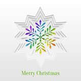 Creative Christmas Snowflake Greeting Card Stock Photos