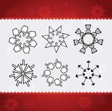 Creative christmas snowflakes. Made from mouse cursors Stock Image