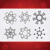 Creative christmas snowflakes Stock Image