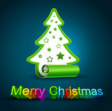 Creative Christmas tree Stock Photography