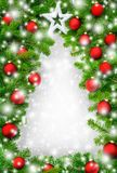 Creative Christmas tree border royalty free stock image
