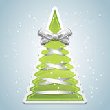 Creative Christmas tree with bow Royalty Free Stock Photography