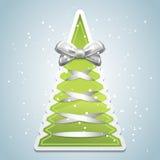 Creative Christmas tree with bow. Creative Christmas tree. Vector illustration Royalty Free Stock Photography