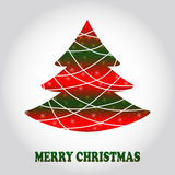 Creative Christmas tree card Royalty Free Stock Images