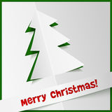 Creative Christmas tree from cuted out paper Stock Image