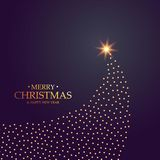 Creative christmas tree design made with golden dots. Vector Royalty Free Stock Images