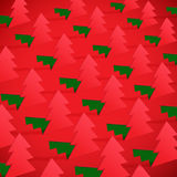 Creative Christmas tree formed from cut out paper. Royalty Free Stock Image