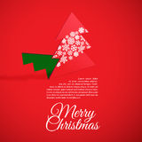Creative Christmas tree formed from cut out paper. Vector illustration of Creative Christmas tree formed from cut out paper Royalty Free Stock Photos