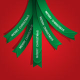 Creative Christmas tree formed from ribbons Stock Image