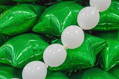 Christmas tree of balloons Royalty Free Stock Photo
