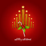 Creative christmas tree with wood Royalty Free Stock Images
