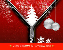 Creative Christmas tree with zipper. Illustration Royalty Free Stock Photography