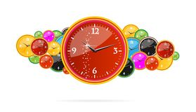 Creative chronometer time sign on the clocks Royalty Free Stock Image