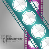 Creative Cinema Background Design. Vector Elements. Minimal Isolated Film Illustration. EPS10 Royalty Free Stock Photo